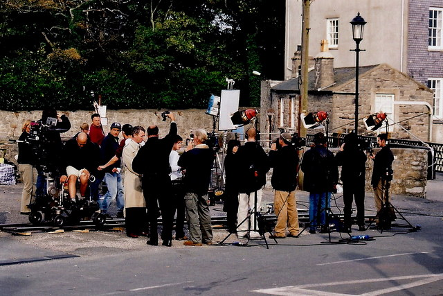Castletown - Filming a BBC movie near Castle Rushen