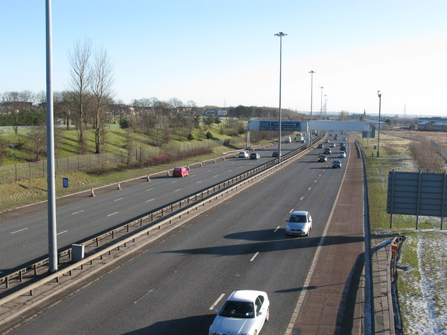 M8 passing Easterhouse