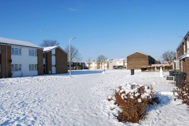 Bridgemary under snow - Northway (2)