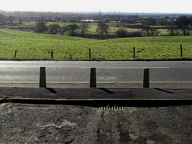 Bollards on Thornham Road, High Crompton