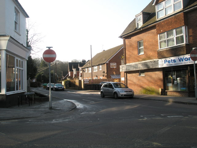 Looking across weyhill into St Christopher's Road