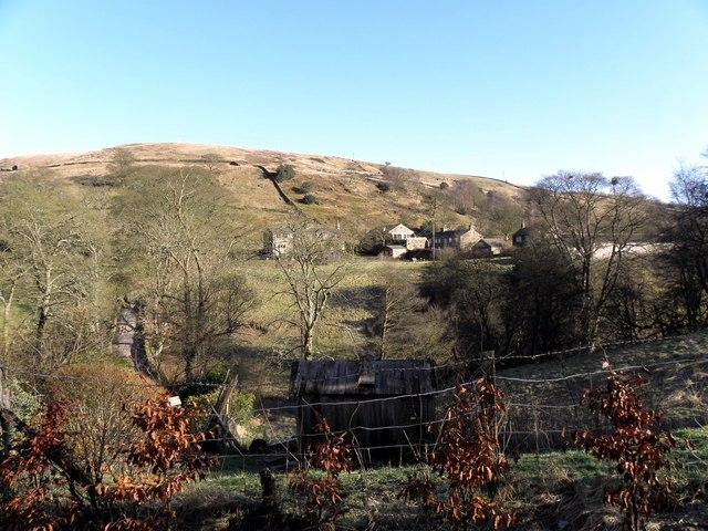 Lowe Farm across the valley