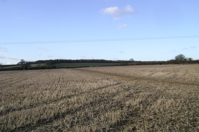 Footpath to Cubbington crosses a field