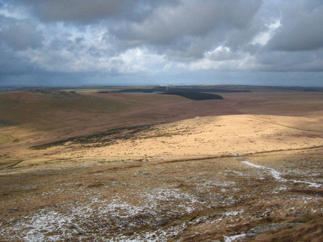 View north north-west from the summit of Brown Willy