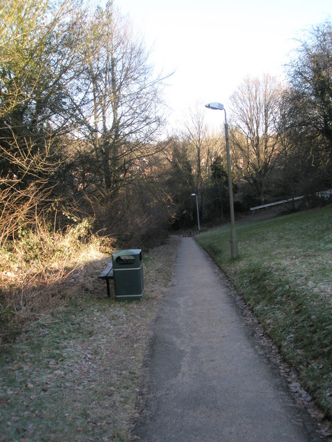 Looking down the path from Sun Brow to King's Road