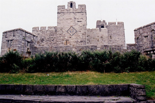Castletown - Castle Rushen - View to north.