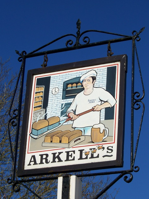 Sign for the Bakers Arms