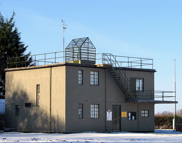 The control tower (now museum) at Seething Airfield