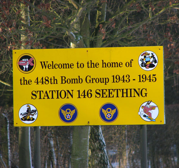 Seething Airfield - Welcome sign