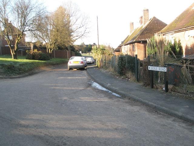 Looking westwards in Sickle Road
