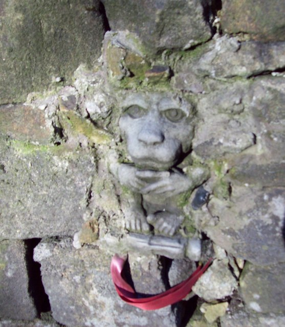 Gargoyle built into Drystone Wall
