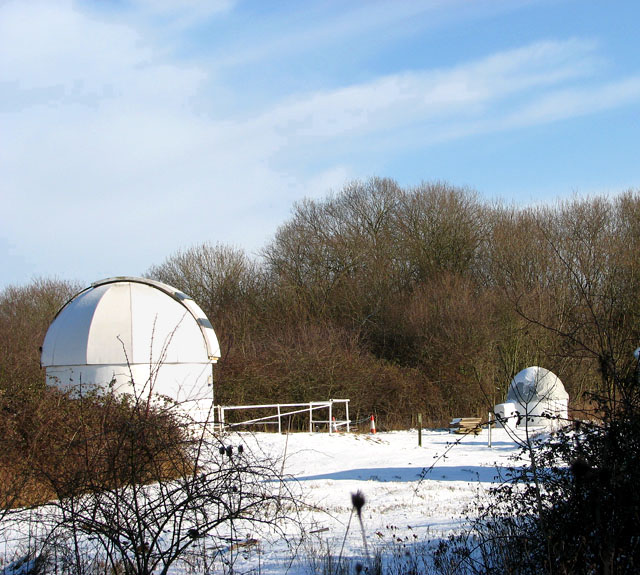 Domed telescopes at Seething Observatory