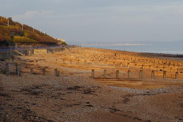 Groynes on Eastbourne Beach