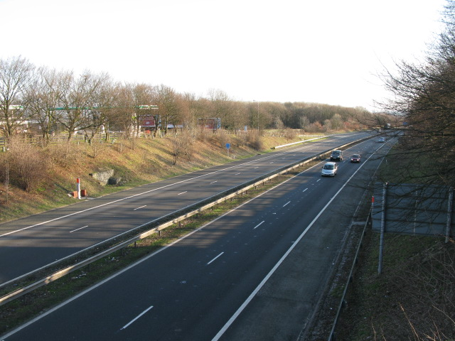 The A2 at Farthing Corner services