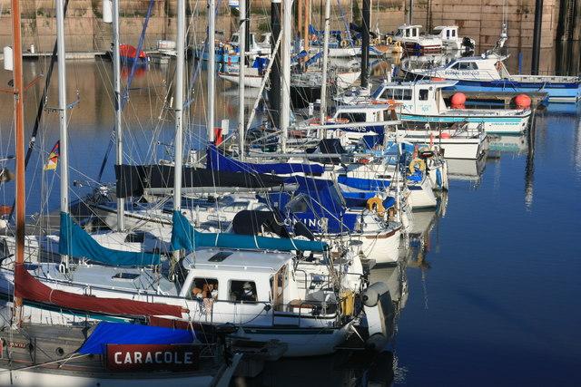 Boats in Watchet Marina