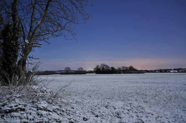 View over the fields towards Cantley