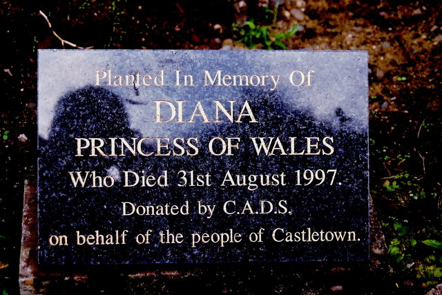 Castletown - Princess Diana memorial in garden area