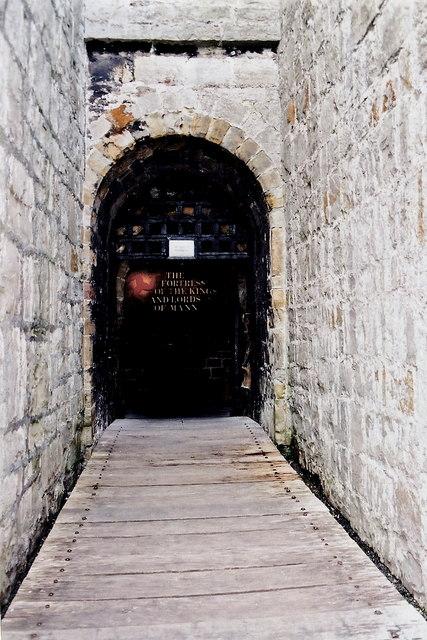 Castletown - Castle Rushen - First of two entrances
