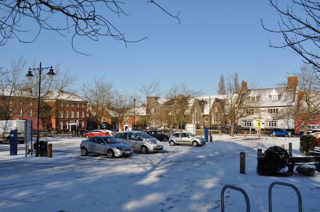 Loddon Carpark in the Snow