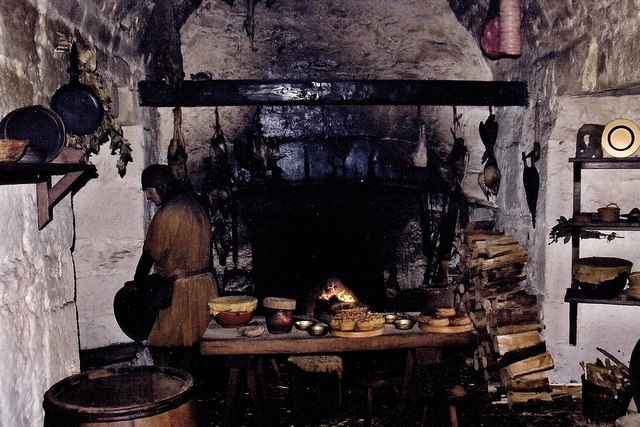 Castletown - Castle Rushen - 17th century kitchen