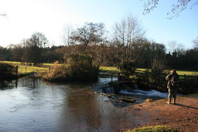 Weir on the Washford River, Kentsford Farm