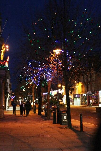 Christmas decorations, The Parade, Minehead