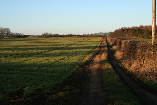 Farmland off Belvoir Road near Denton