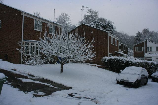 Heavy snow on St Michael's Rd