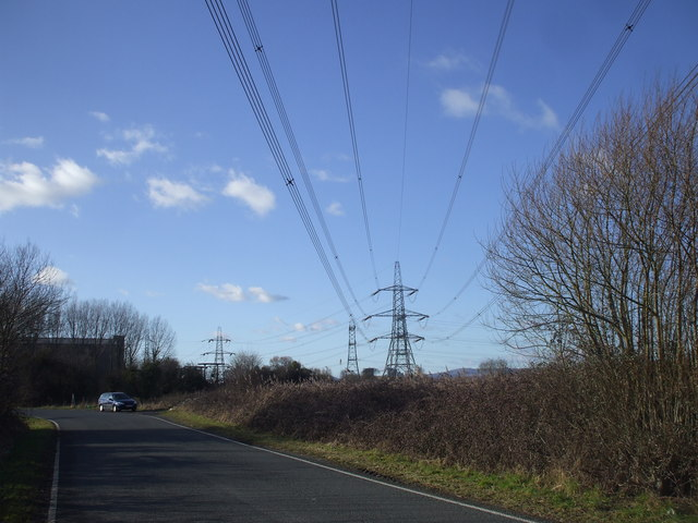 Transmission lines near Whitson sub-station