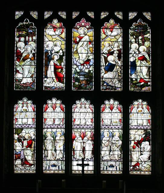 East window St Andrews's, Great Easton