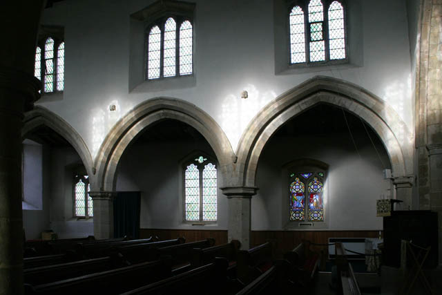 The north aisle, St Andrew's, Great Easton