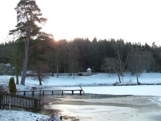Stanage Park lake