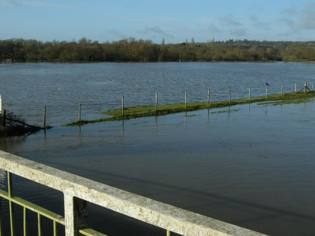 River Wey at Broadford in flood