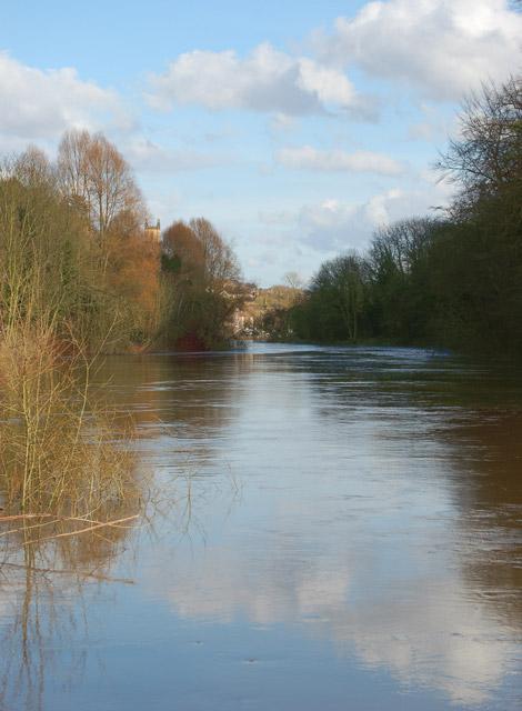 River Severn gorge upstream of Ironbridge