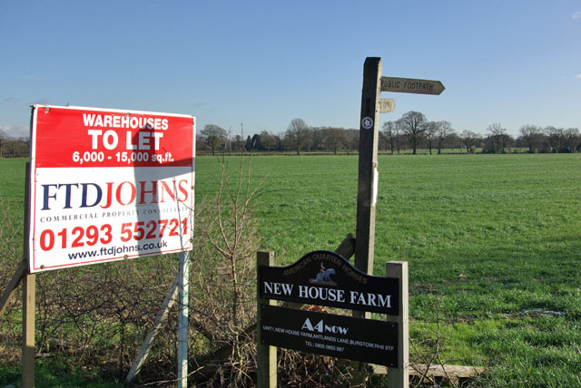 Signs, New House Farm entrance