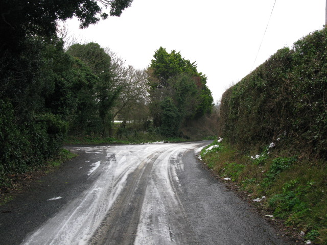 Junction of Ivy Cottage Hill with Way Hill