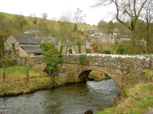 Viators Bridge in Milldale Derbyshire