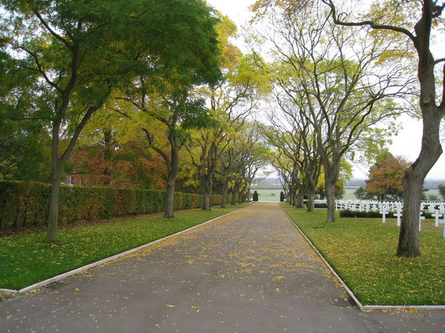 Autumn at the American War cemetery