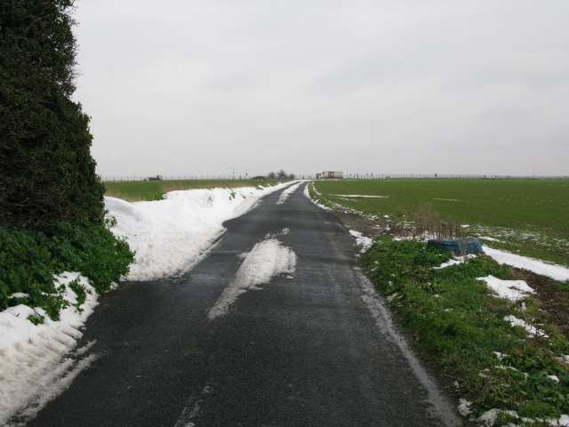 View along Way Hill to the A299