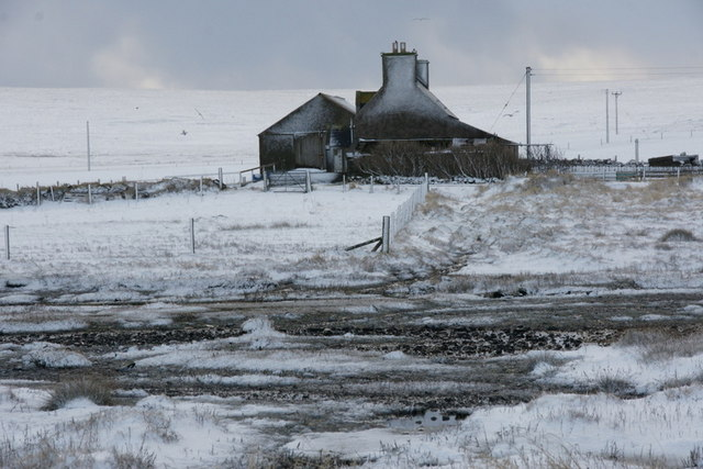 Voehead, Baltasound, in the snow