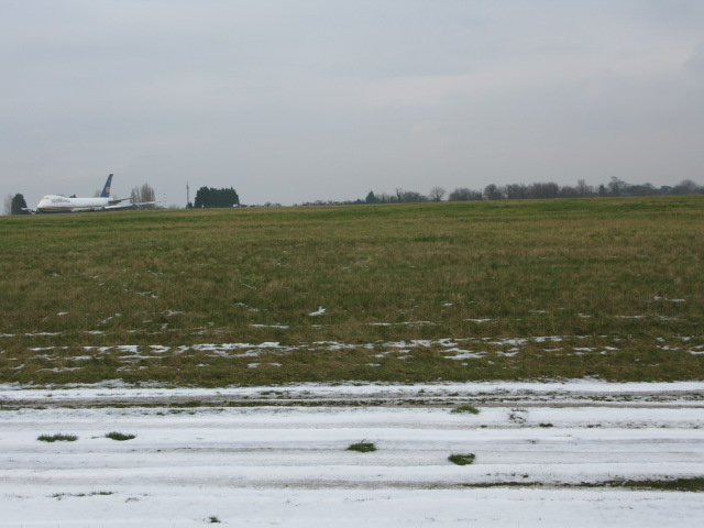 View across Manston airfield from King Arthur Road