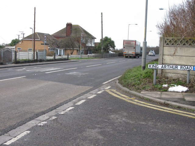 Junction of King Arthur Road with A299