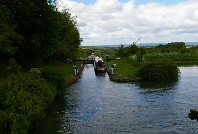 View down Caen Hill Locks