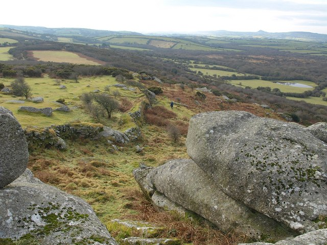 Wall below Helman Tor