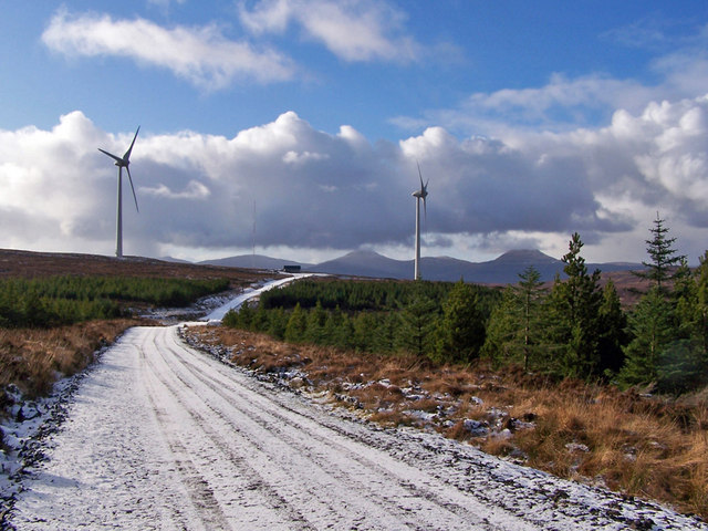 Approaching the wind farm