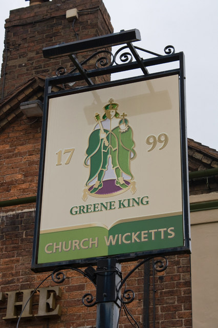 Church Wicketts, Malinslee, pub sign
