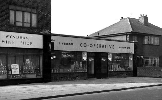 Co-operative Food Store, Pilch Lane, Liverpool.  1955