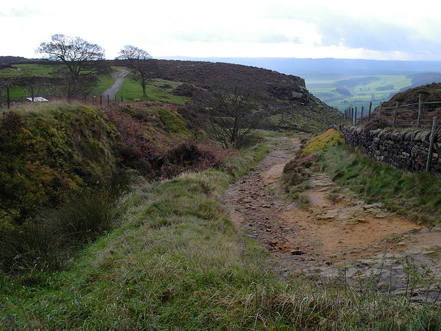 Curbar - start of Baslow Edge from Curbar Gap