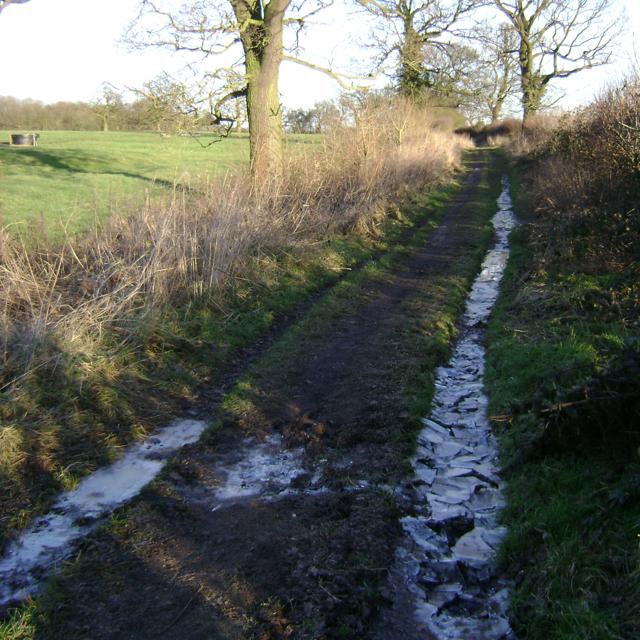 Broken ice, Mill Lane
