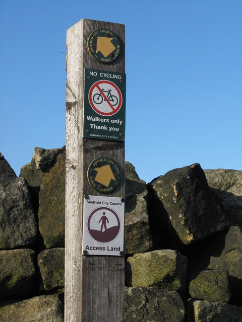 Signpost at end of Heads Lane